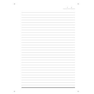 Miolo Caderno Pequeno Branco 140x200 mm-1375